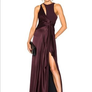 POPULAR cinq a sept gown, vino, size 4!